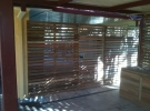 Outdoor timber enclosure around BBQ