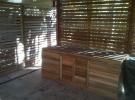 Outdoor timber enclosure around BBQ